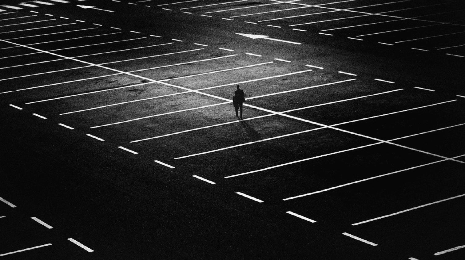 marquage au sol pour des places de parking
